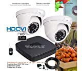 Dahua–Kit de Video Surveillance HD 720P mit 2Kuppeln Infrarot 25m–Kit–D339–2x 575–2TB, HDD