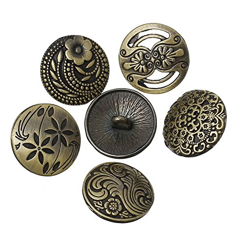 30 botones vintage metal cobre para scrapbooking, costura, decoracion..