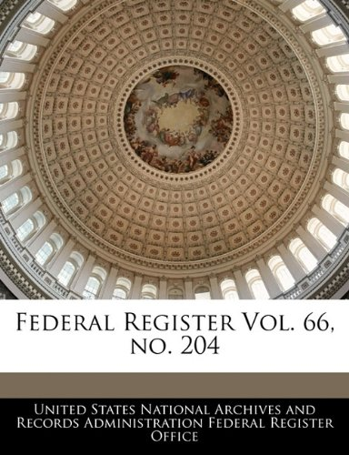 Federal Register Vol. 66, no. 204