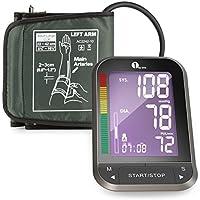 1byone Tensiómetros de brazo eléctricos,Pantalla LCD Medicial CE,almacena hasta 60 lecturas para