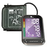 1byone Upper Arm Blood Pressure Monitor with Wide-Range Cuff, Large Backlit LCD,
