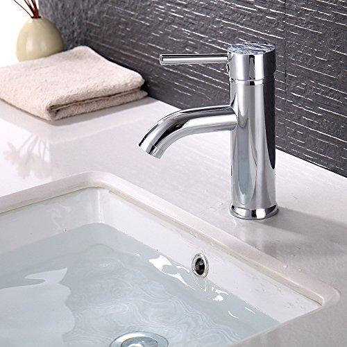 Hausbath bagno moderno rubinetto monocomando one beccuccio miscelatore acqua calda e fredda miscelatore per lavabo, miscelatore, mono