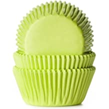 50 Muffinförmchen hellgrün, Papierbackförmchen -50x33mm
