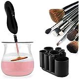 Limpiador automático del cepillo del maquillaje - Máquina de rotación de 360 grados Limpieza profunda y secado de pinceles de maquillaje de todos los tamaños en segundos