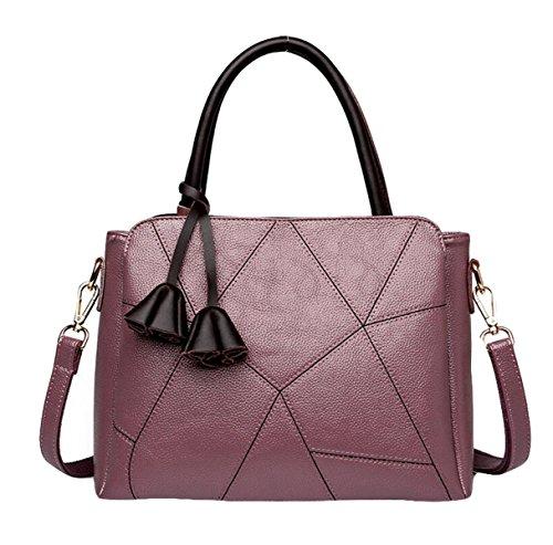 Handtaschen Mutter Tasche Schultertasche Messenger Tasche Mode Wilde Stich Handtasche Einfache Freizeit Purple