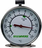 Ecosavers Kühlschrank Gefrierschrank Thermometer Edelstahl