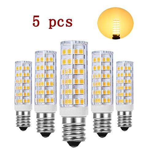 Glühbirne E14 LED, RANBOO, 7W Ersatz für 60W Halogenlampen, Nicht Dimmbar, 450lm, Warmweiß 3000K, 360°Abstrahwinkel, LED Leuchtmittel SES E14,Edison Schraube LED Birnen 220-240V AC, 5er Pack (40w Halogen-anhänger)