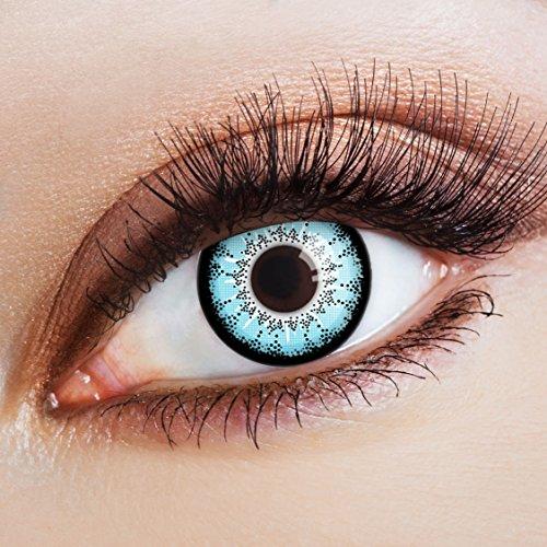 aricona Kontaktlinsen Farblinsen | blaue Kontaktlinsen ohne Stärke | Big Eyes Circle Lenses | farbig bunte Manga Linsen | Cosplay Jahreslinsen