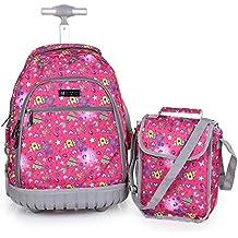 Cute Lovely Viaje Nailon Impermeable Lluvia de Mochila Escolar Niños Bolsas de hombro bolsas de senderismo resistente con maletas de mano fijo con ruedas para alumnos estudiantes de primaria