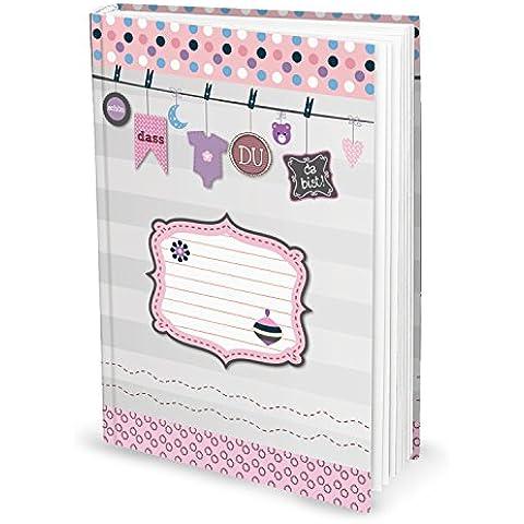 XXL Baby libro per ragazze (copertina rigida, A4) per prendere le primi anni di vita, 136pagine, con indice; Il regalo perfetto per genitori
