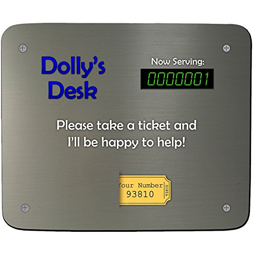 - ein Schreibtisch Dolly'Ticket-Design, personalisierbar, Name und Mauspad, Premium, 5 mm Dick) (Schreibtisch Dolly)
