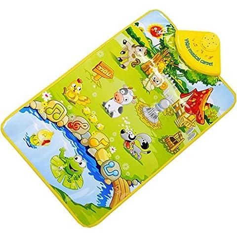 Fortan La fattoria degli animali musicale Musica Touch Play Canto Palestra Carpet Mat giocattolo regalo