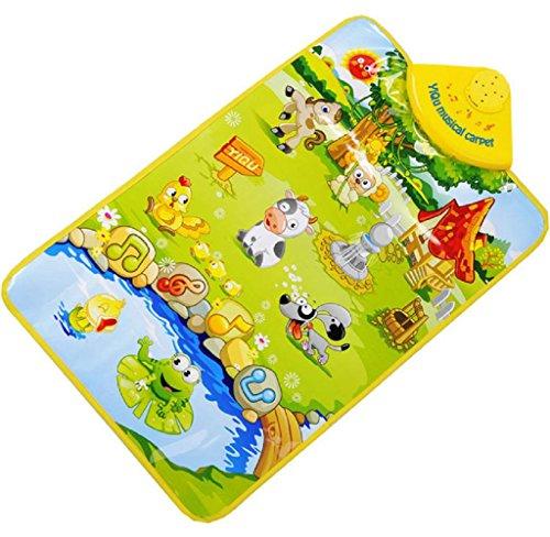 Maolanku La fattoria Suoni animali musicale touch Giocare Palestra Musica Tappeto Mat (Mini Cane Giocattolo Anelli)