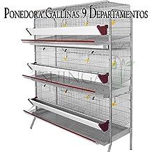 Suinga Bateria GALLINAS PONEDORAS 9 departamentos. Capacidad 45 gallinas. Medidas 154 x 70 x