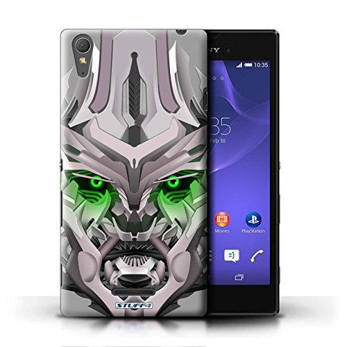 Kobalt® Imprimé Etui / Coque pour Sony Xperia T3 / Mega-Bot Rouge conception / Série Robots Mega-Bot Vert