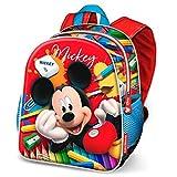 Karactermania Mickey Mouse Crayons-Nursery Backpack Sac à Dos Enfants, 30 cm, 7 liters, Rouge (Red)