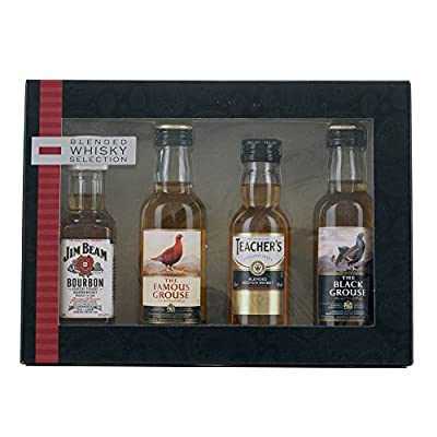 Blended Whisky Selection 4x 5cl Miniature Gift Pack from Variety