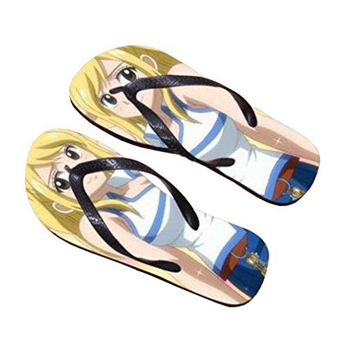 Bromeo Fairy Tail Anime Unisex Flip Flops Zehentrenner Flip Pantoffeln 12