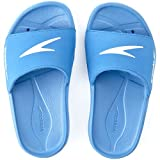 Speedo Junior Atami Core Slide Sandal - Size 13, Blue/White