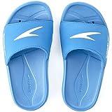 Speedo Atami Core Slide ( Box ) 8073993082, Jungen Sandalen/Bade-Sandalen, Blau (Blue/White), EU 32