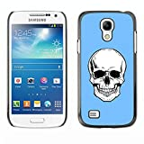 STPlus Schädel Tod Skelett (Baby-Blau) Harte Hülle Tasche Schutzhülle für Samsung Galaxy S4 Mini
