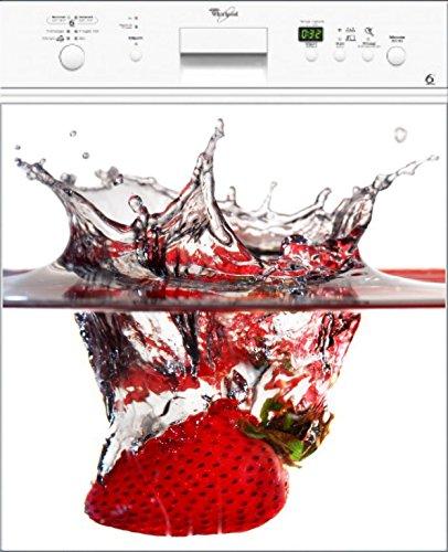 Preisvergleich Produktbild stickersnews–Magnet Spülmaschine Deko Erdbeere Splatch 60x 60cm OEM 041