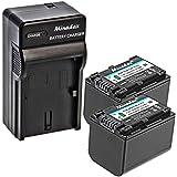 Minadax® Chargeur 100% compatible pour SONY NP FV70avec voiture Câble de charge, station de chargement interchangeables + 2x Batterie comme de NP-FV70