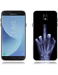 """Funda Samsung Galaxy J7(2017) J730F/J7pro Carcasa de Silicona, Fina, Ultra Suave con Cubierta Protectora,Dibujo Tema No Toque Mi Teléfono, FUBAODA, Resistente a los Arañazos en su Parte Trasera, Amortigua los Golpes, Funda Protectora Anti-golpes para Samsung Galaxy J7(2017) J730F/J7pro (5.5"""")"""