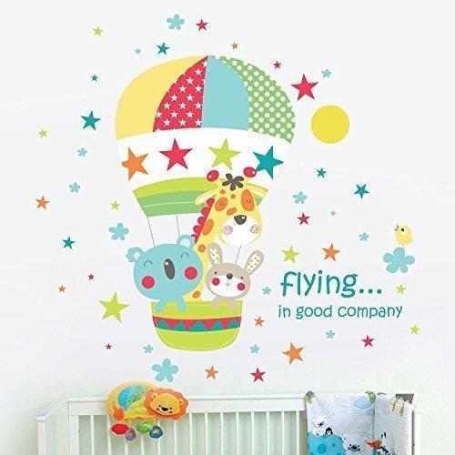 walplus-amovible-autocollant-autocollant-mural-meilleurs-ami-air-chaud-baloon-ride-decoration-murale