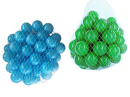 1000 Bälle für Bällebad gemischt mix mit grün und türkis
