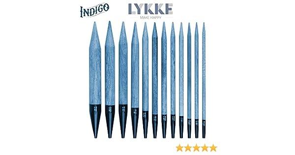 Lykke austauschbare Nadelspitzen Rundstricknadel Indigo alle Größen