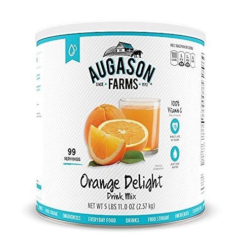 Augason Farms Orange Delight Drink Mix #10 Can, 91 oz by Augason Farms