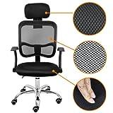 Popamazing Fabric Mesh Seat Adjustable Executive Office Computer Desk Chair New (Black)