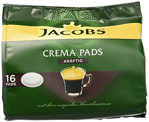 Jacobs Crema Strong 16 Kaffee Pads, 5er Pack (5 x 105 g)