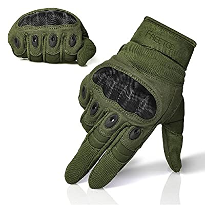 [Sport Handschuhe] FREETOO taktische Handschuhe Motorrad Handschuhe Herren Vollfinger Handschuhe mit gepolstertem Rückenseite geeignet für Airsoft Militär Paintball Motorrad Fahrrad und andere Outdoor Aktivitäten von FREETOO auf Outdoor Shop
