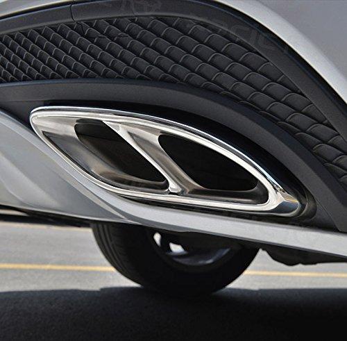 Auto Zubehör AMG Edelstahl Auspuff Verkleidung für Mercedes Benz GLC A B C E Klasse W205Coupe-W176W2462016-2017Auto Styling Teile