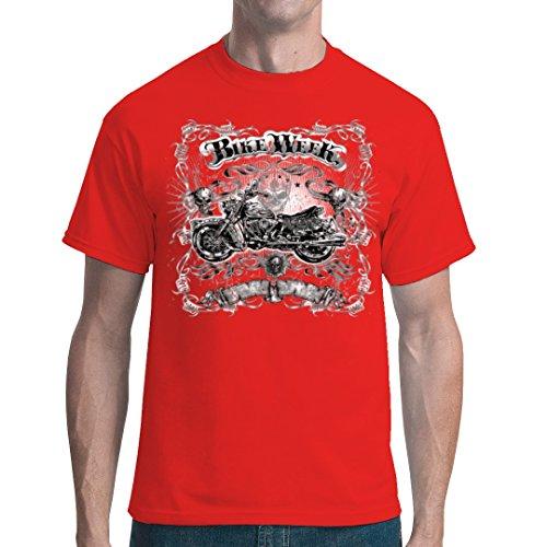 Biker unisex T-Shirt - Bike Week - Gothic Chopper by Im-Shirt - Rot XXL -