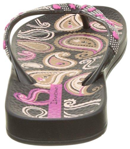 Ipanema Anat Lovely Vii Fem, Tongs Femme Noir (Black/Pink)