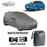 #7: Fabtec Waterproof Car Body Cover for Elite i20 with Mirror and Antenna Pocket and Storage Bag Combo