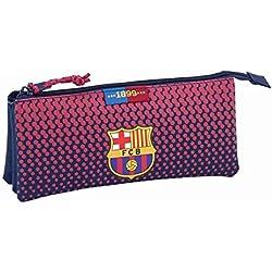 Safta Estuche Escolar F.C. Barcelona Corporativa Oficial, 220x30x100mm