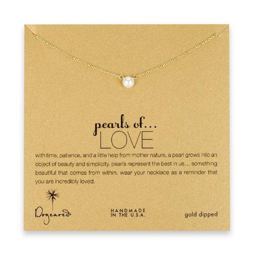 Dogeared Halskette Love Perlen White Pearl, in Gold getaucht (White Pearl Halskette)