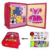 Libro di Stoffa per Bambini Stoffa Non Tessuto Manuale Libro Tridimensionale Promuovi Lo Sviluppo Cognitivo della Prima Infanzia Libro Learning Activity Giocattoli per i Bambini Neonati
