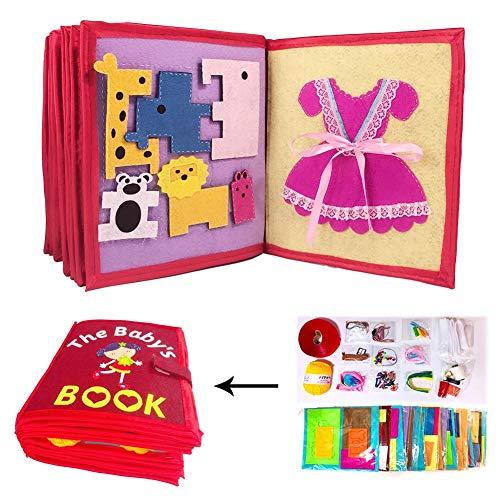 Libro De Tela Para Niños, Libro De Bebé Ultra Suave Libro De Tela De Tacto Y Tacto Libro De No Tejido Manual 3D Para Bebés Y Niños Pequeños, Aprender A Libro Sensorial Identificar Habilidades