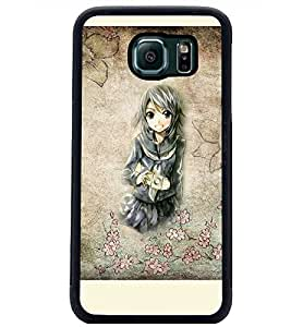 PrintDhaba Cute Girl D-2909 Back Case Cover for SAMSUNG GALAXY S6 (Multi-Coloured)