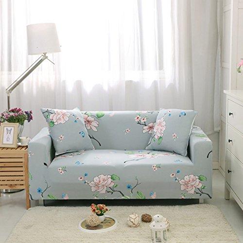 Zhiyuan Elastische Sofa-Abdeckung mit Blumenmuster, 2 Sitzer