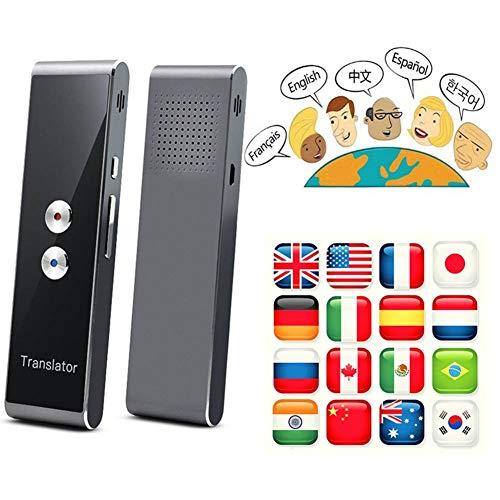 JINLO Tragbarer Bersetzer Fr Tragbare Intelligenter Sprach In Echtzeit Smart Tragbarer Pocket Enence Instant Reisen Einkaufen Business Lernen Mit 40 Sprachen Geschenk Geben