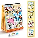 Fansteck Agua Dibujo Pintura, Libro Mágico de Colorear para niños,...