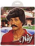 Widmann - Pe503 - Perruque Play Boy Avec Moustaches Noires