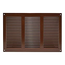 Ventilation Grille/Exhaust Air Grill/Weather Protection Grille with Insect Protection 300X200mm, Metal, brown, MR3020B