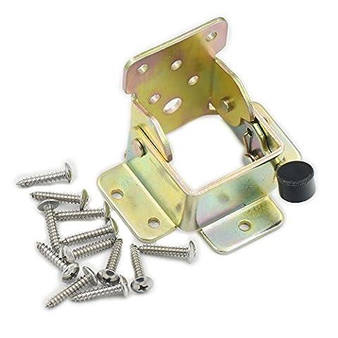 2PCS Stahl-Faltschloss Verlängerung Tabelle Bett Bein klappbare Füße Unterstützung Halterung Schraube Rahmen Choi Zink
